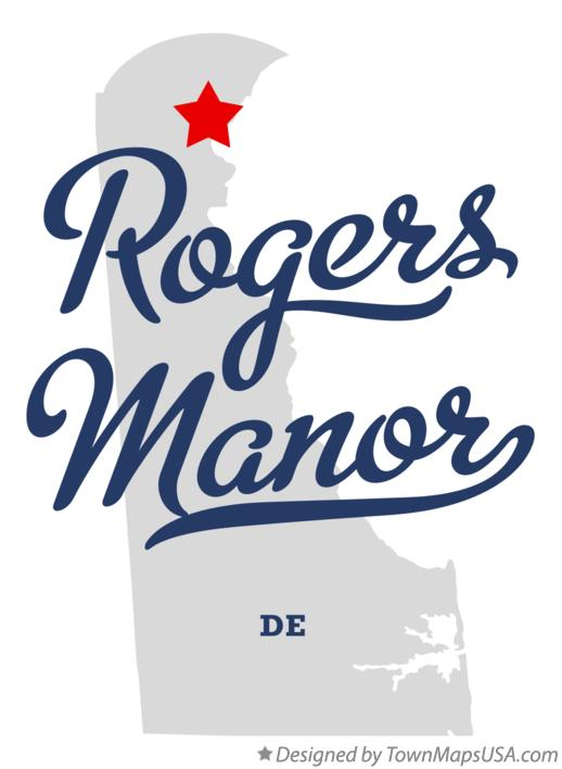 Map of Rogers Manor Delaware DE