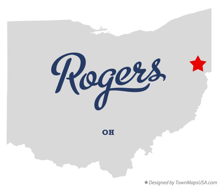 Map of Rogers Ohio OH