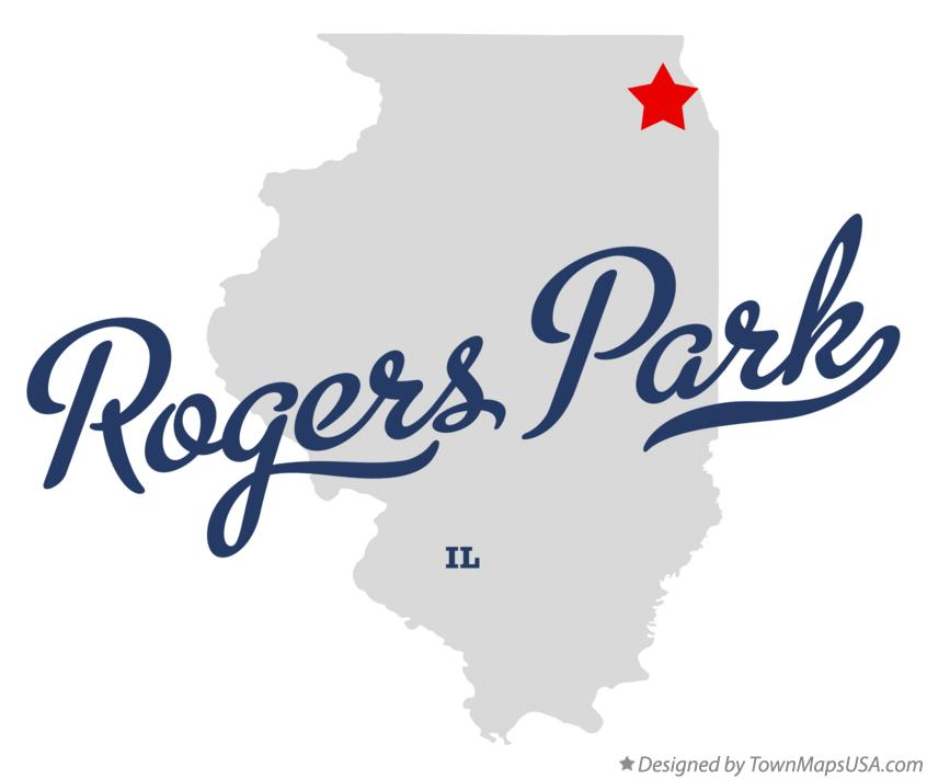 Map of Rogers Park Illinois IL