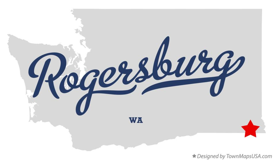 Map of Rogersburg Washington WA
