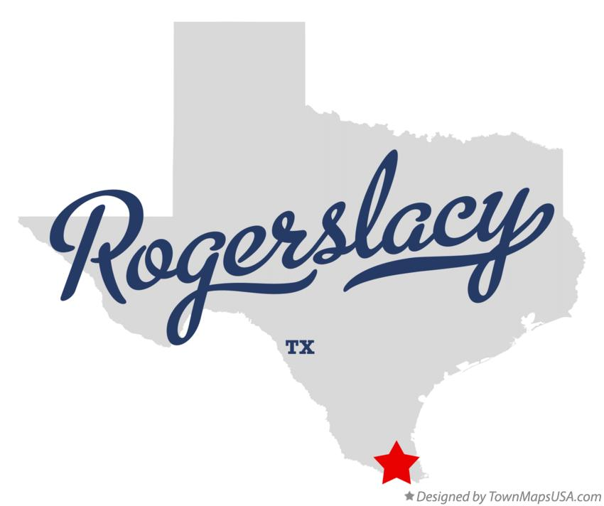 Map of Rogerslacy Texas TX