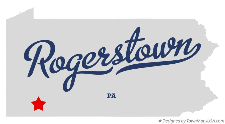 Map of Rogerstown Pennsylvania PA
