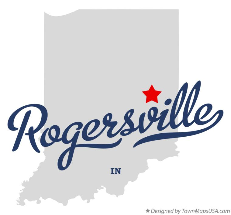 Map of Rogersville Indiana IN