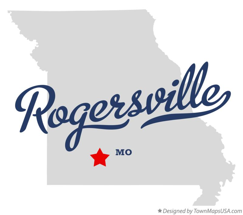 Map of Rogersville Missouri MO