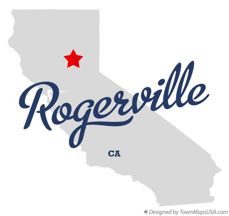 Map of Rogerville California CA