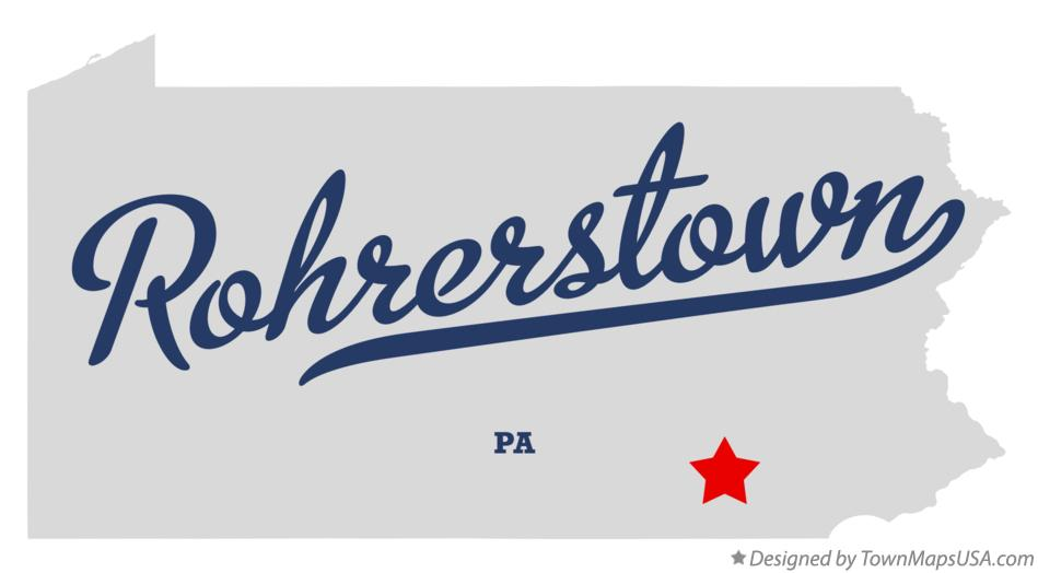 Map of Rohrerstown Pennsylvania PA