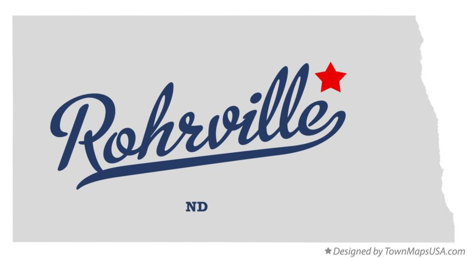 Map of Rohrville North Dakota ND