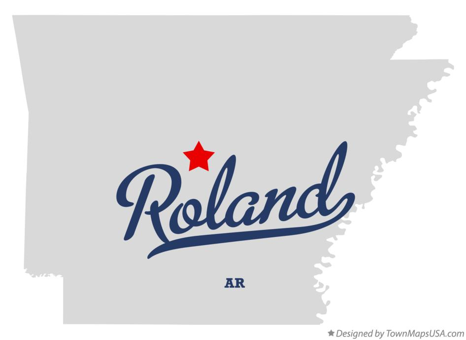 Map of Roland Arkansas AR