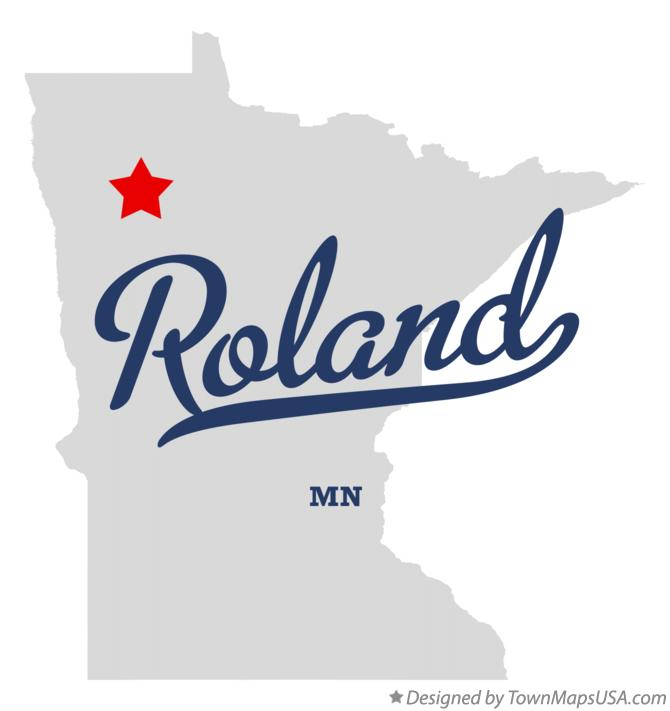 Map of Roland Minnesota MN