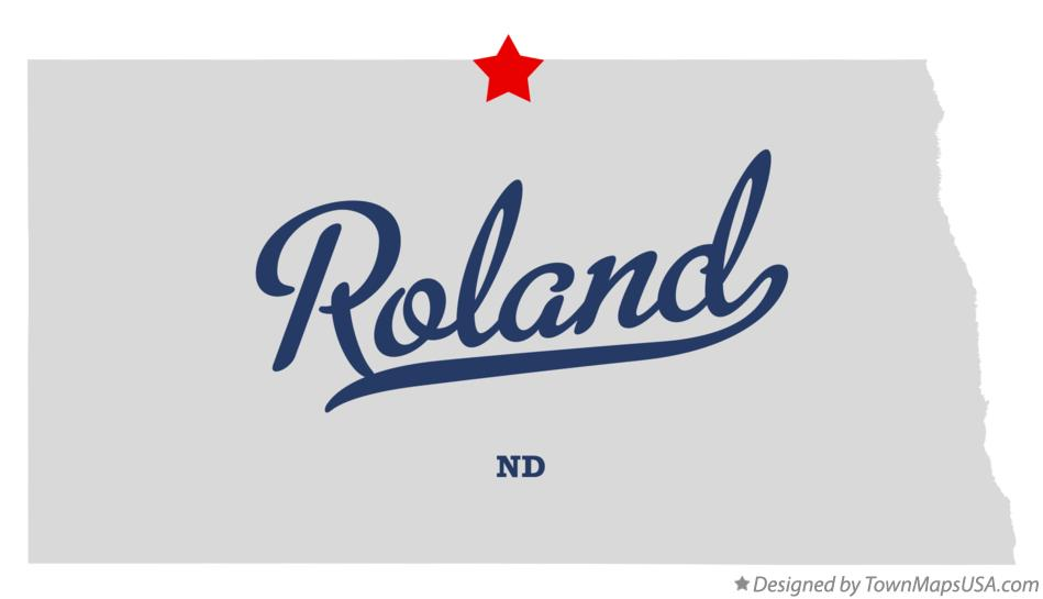 Map of Roland North Dakota ND