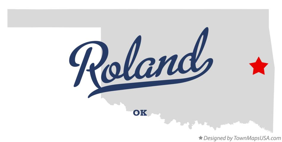 Map of Roland Oklahoma OK