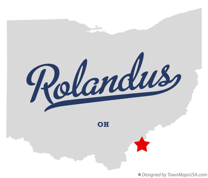 Map of Rolandus Ohio OH