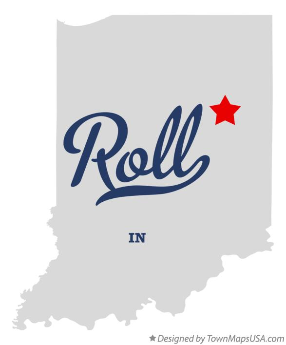 Map of Roll Indiana IN
