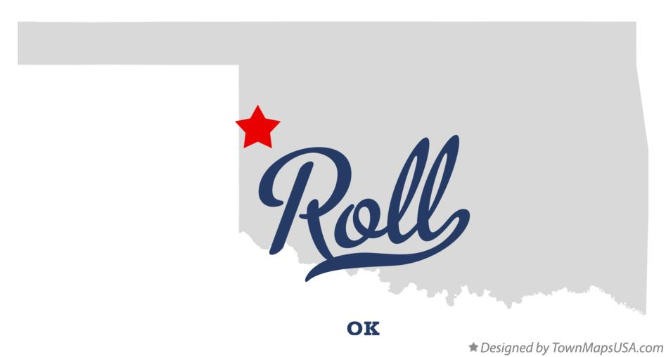Map of Roll Oklahoma OK