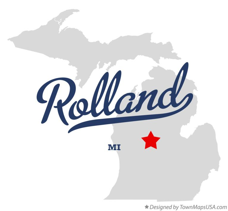 Map of Rolland Michigan MI