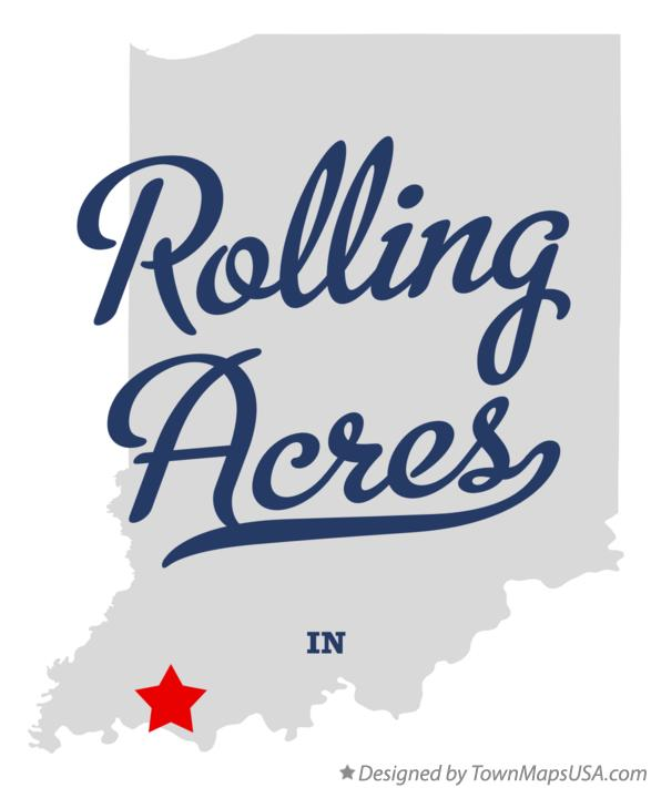 Map of Rolling Acres Indiana IN