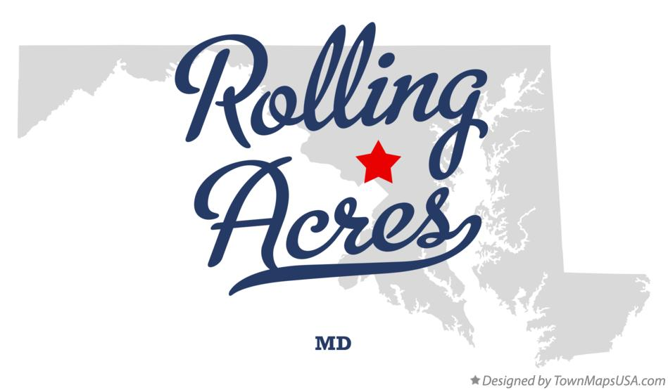 Map of Rolling Acres Maryland MD