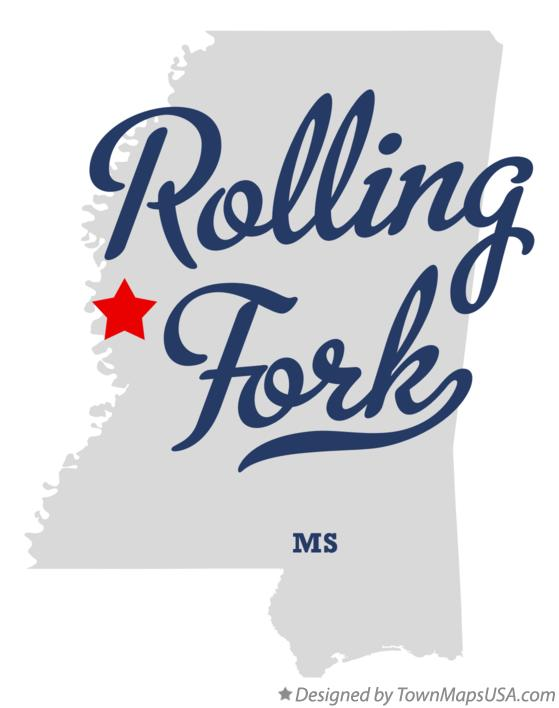 Map of Rolling Fork Mississippi MS