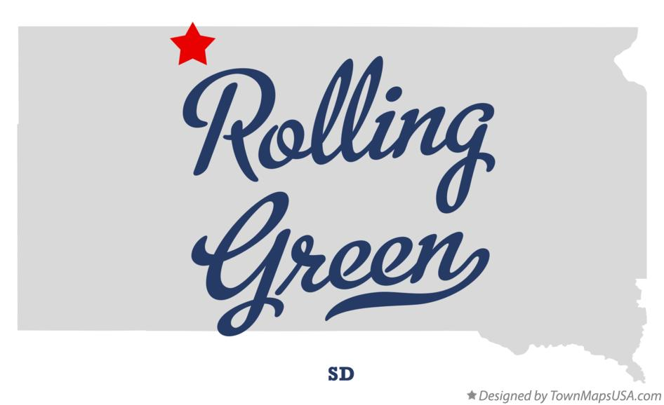 Map of Rolling Green South Dakota SD