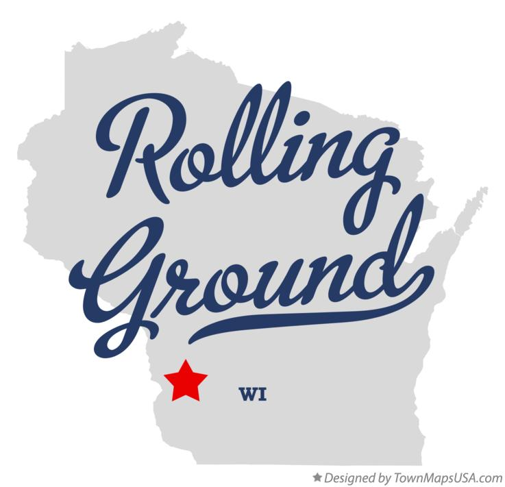 Map of Rolling Ground Wisconsin WI