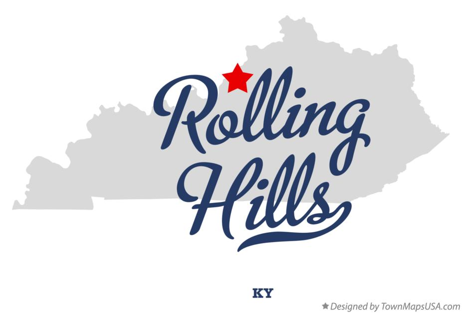 Map of Rolling Hills Kentucky KY