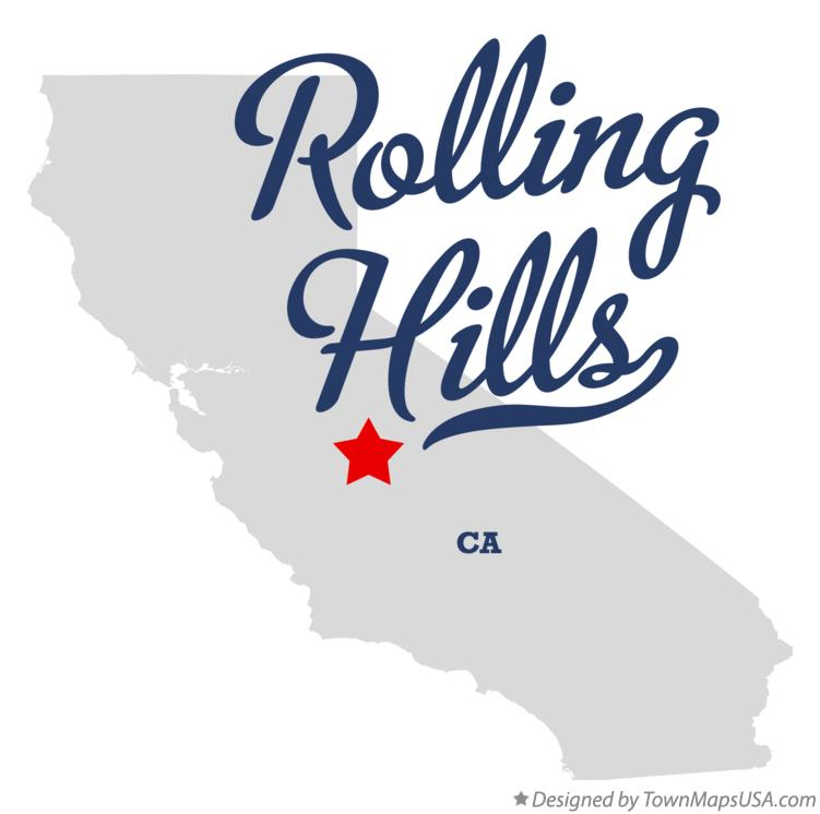 Map of Rolling Hills California CA