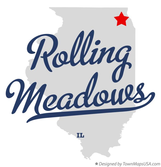 Map of Rolling Meadows Illinois IL