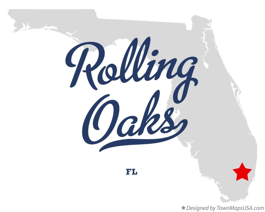 Map of Rolling Oaks Florida FL