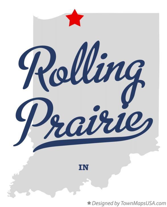 Map of Rolling Prairie Indiana IN