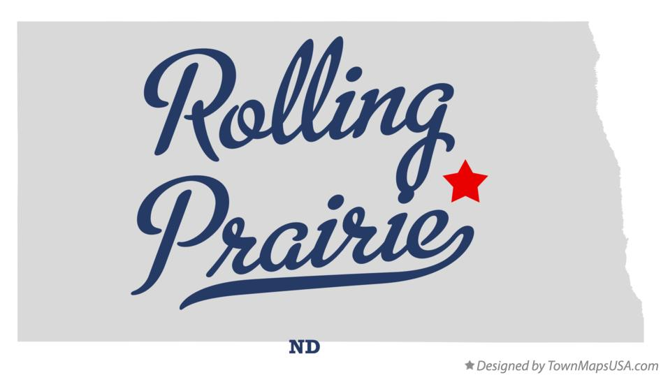 Map of Rolling Prairie North Dakota ND