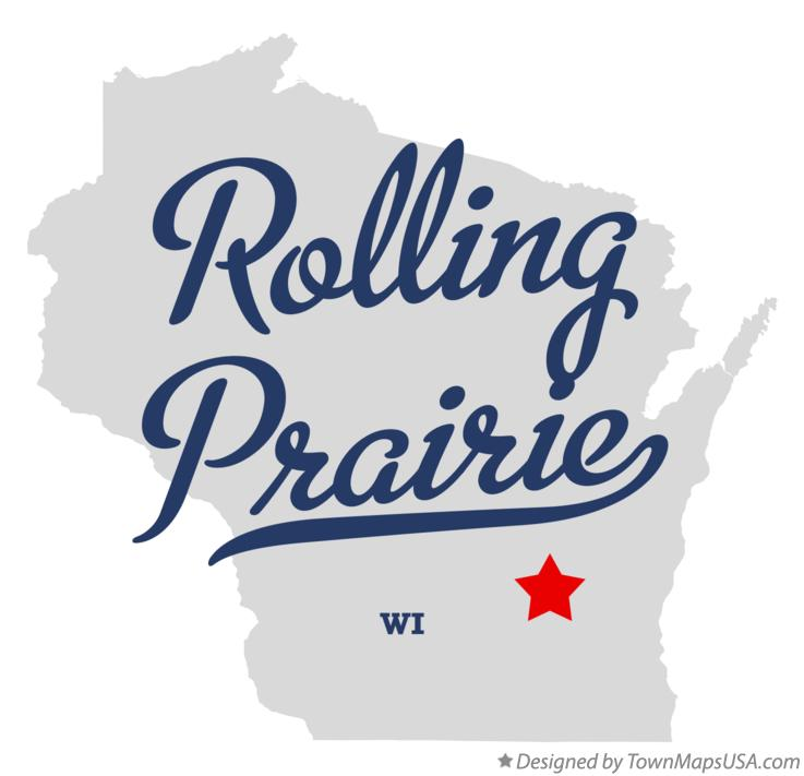 Map of Rolling Prairie Wisconsin WI