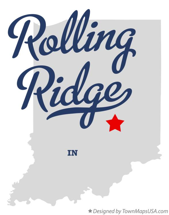 Map of Rolling Ridge Indiana IN