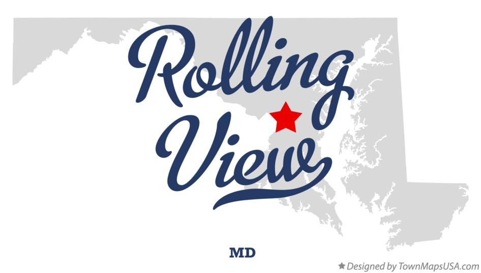 Map of Rolling View Maryland MD