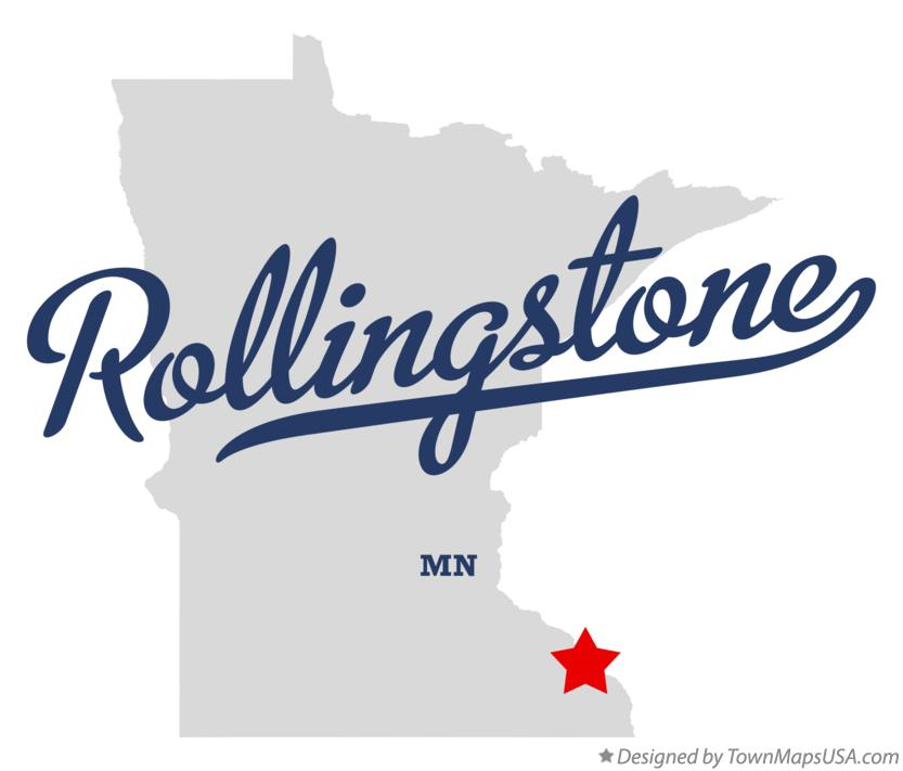 Map of Rollingstone Minnesota MN