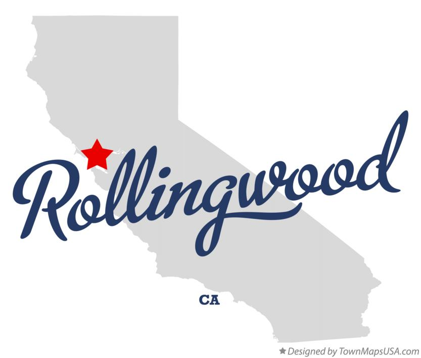 Map of Rollingwood California CA