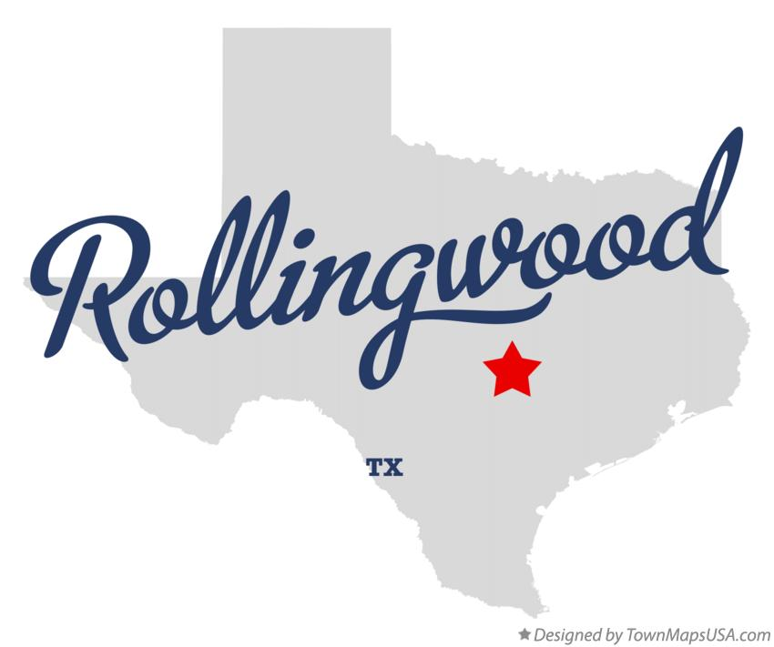 Map of Rollingwood Texas TX