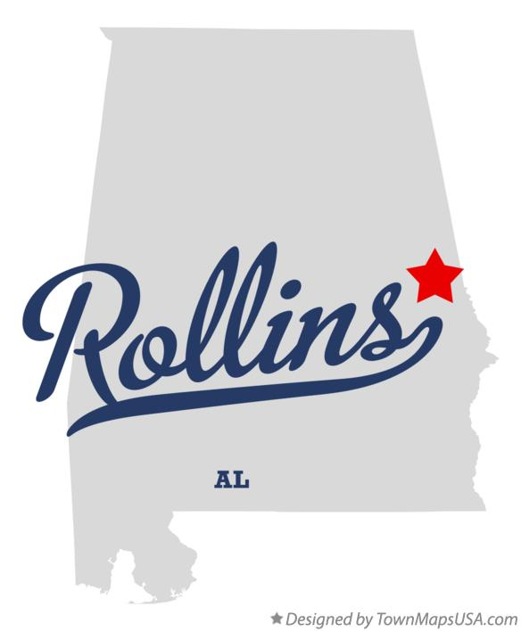 Map of Rollins Alabama AL