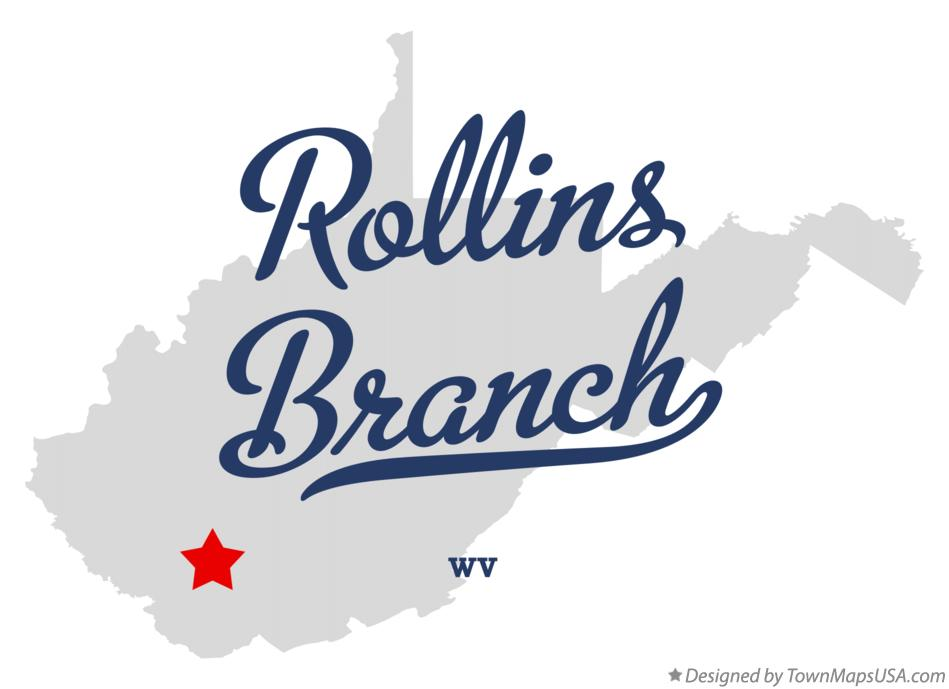 Map of Rollins Branch West Virginia WV