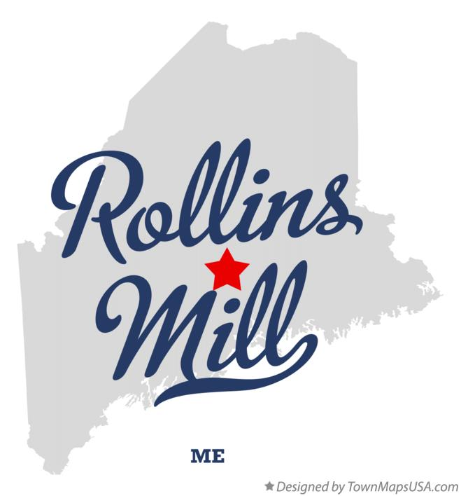 Map of Rollins Mill Maine ME