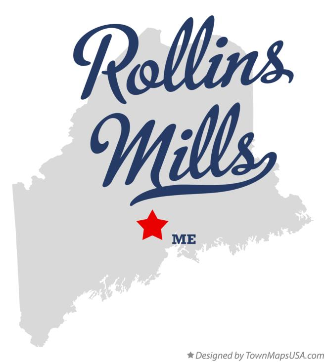 Map of Rollins Mills Maine ME