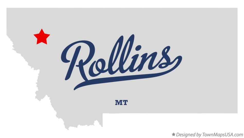 Map of Rollins Montana MT