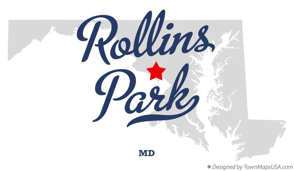 Map of Rollins Park Maryland MD