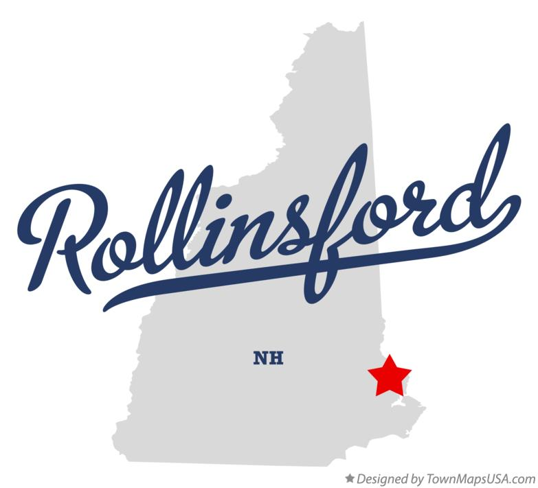 Map of Rollinsford New Hampshire NH