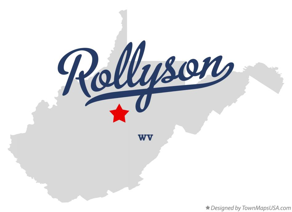Map of Rollyson West Virginia WV