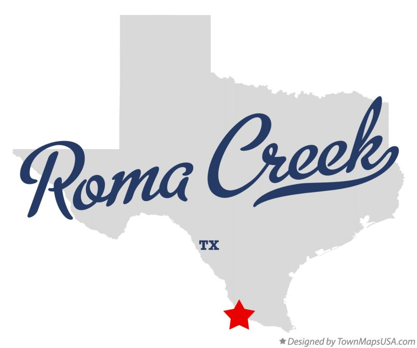 Map of Roma Creek Texas TX