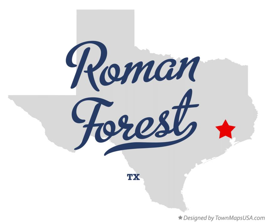 Map of Roman Forest Texas TX