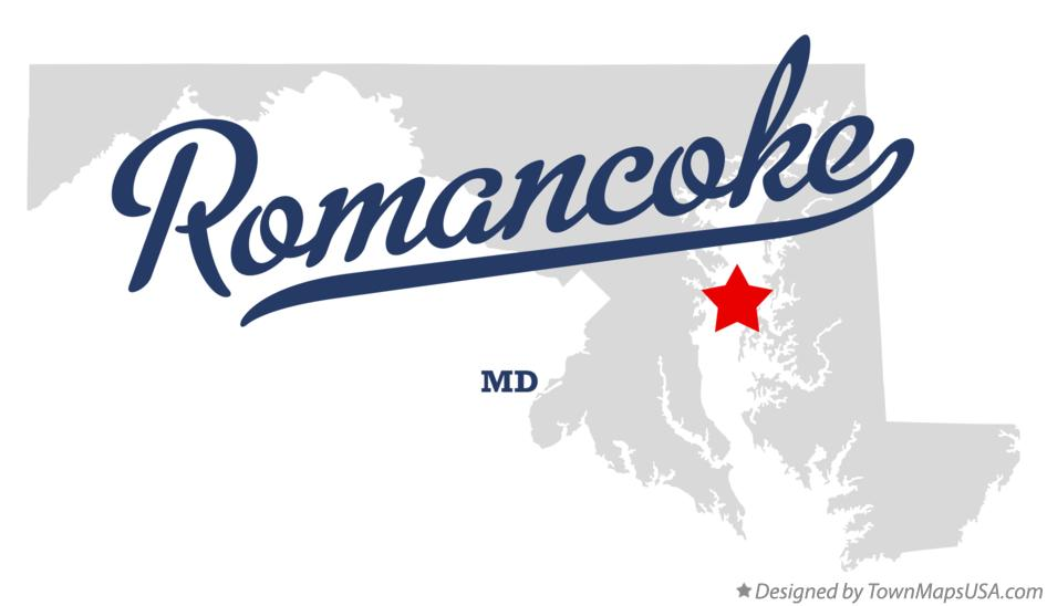 Map of Romancoke Maryland MD