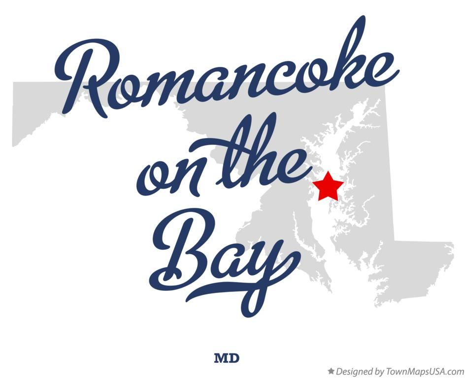 Map of Romancoke on the Bay Maryland MD