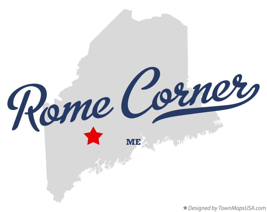 Map of Rome Corner Maine ME