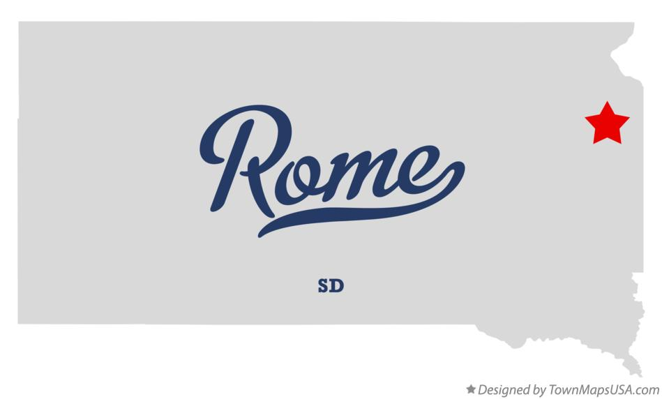Map of Rome South Dakota SD